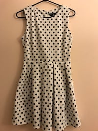 White polka dot A-line dress Surrey, V3T 5V2