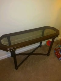 rectangular brown wooden framed glass top coffee table Crossville, 38555