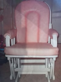 Beautiful Coral color glider chair and glider ottom