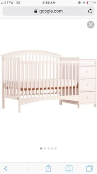 White crib with changing table and drawers  Nancy, 42544