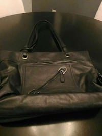 women's black leather tote bag London, N5Y 2J6