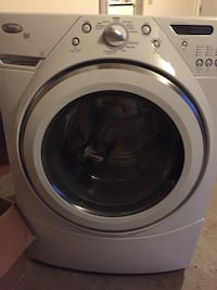 White front-load clothes washer Newington, 06111