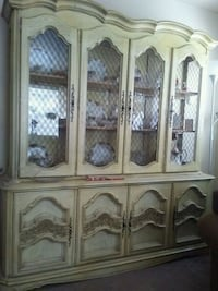 white wooden framed glass display cabinet Regina, S4T 4N9