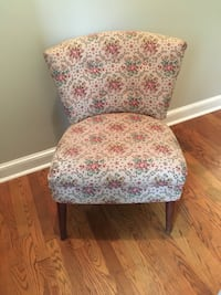 white and red floral padded chair Overland Park, 66204
