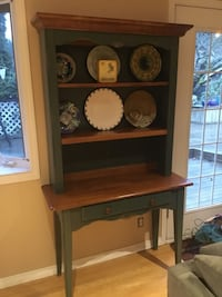wooden framed display cabinet hutch, plates not included Delta, V4E 1E7