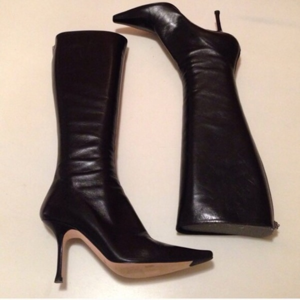 9ea46e396dc6 Used Jimmy choo peony leather boots 39 for sale in Calgary - letgo