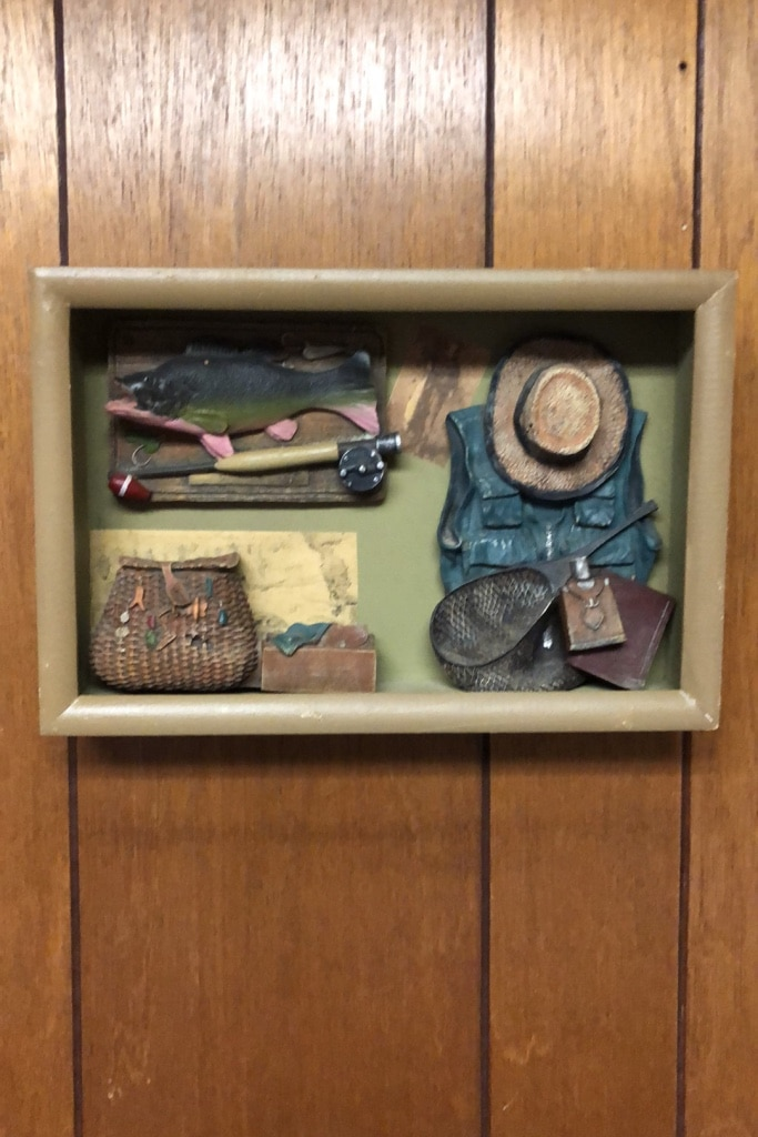 Photo Fly fishing 3D decorative wall hanging.
