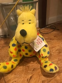 yellow and red bear plush toy Brookeville, 20833