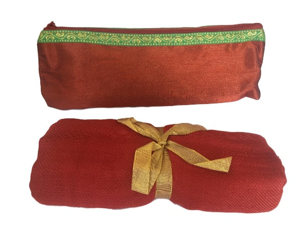 New Indian Stole Scarf Neck Wrap Viscose Shawl with Cosmetic Pouch, Coral 14f04757-0aef-48f4-ac3f-f57fb2ffb2c1