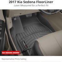2017 Kia Sedona Weather tech mats