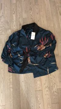 blue and red floral zip-up hoodie Vaughan, L6A 1S2