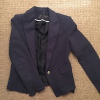 Black 1-button blazer