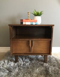 Mid Century Walnut Nightstand/Side Table Calgary, T3K 4V7