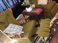 """70 """", s show style recliners mint condition with wooden trim Calgary, T2Y 5G9"""