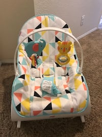 white and red Fisher-Price bouncer seat Lancaster, 93536