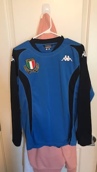 blue and black Adidas jersey shirt Maple Ridge, V2X 9B1