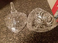 clear cut glass bowl with lid Derry, 03038