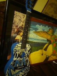 blue and black electric guitar Kendall, 33176