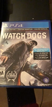 Watch dogs ps4 game signature edition Surrey, V3S 8T9