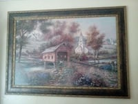 brown wooden framed painting of house Spring Hill, 34606
