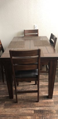 Brown wooden 5-piece dining set Tracy, 95304
