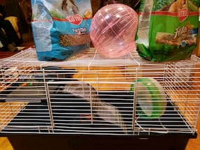 Hamster cage for sale including...