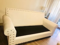 White couch without cushion if needed i can give it   Las Vegas, 89148