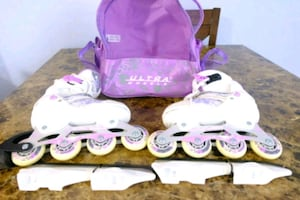 ice skating roller blades 2- and- 1 size 1-4 girl