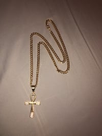 Gold Plated Necklace With cross pendant Mississauga, L5N 4N2