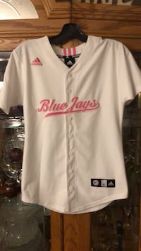 GIRLS YOUTH PINK ADIDAS BLUE JAYS JERSEY  North Dumfries, N0B