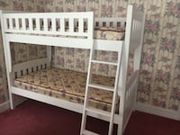 white wooden bunk bed frame Medford, 08055