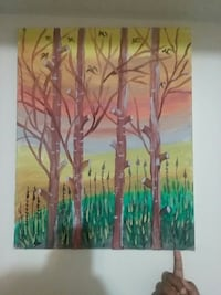 leafless tree painting