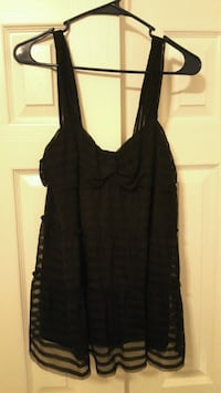 Studio M XL black blouse with spaghetti straps  Owasso, 74055