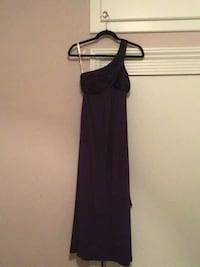 David's   Bridal One Strap Long Prom Dress