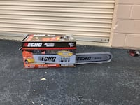 Brand new echo chainsaw. $300 firm. Retails for $399.99 Arlington, 22206