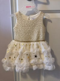 Children's Place baby girl tutu dress and matching shoes