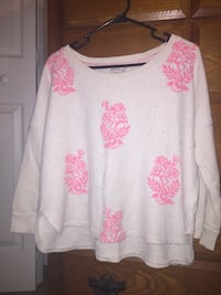 white and red floral crew-neck sweater Rutledge, 37861