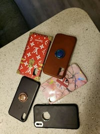 three black and red iPhone cases Houston, 77027