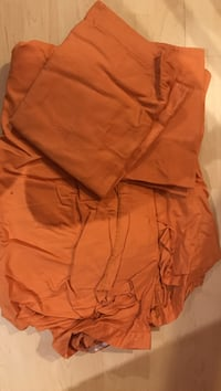 Burnt orange queen duvet cover set