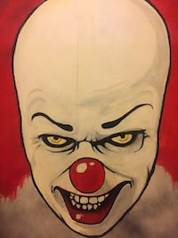 One of a kind hand painted Pennywise tabletop