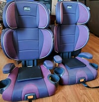 2 chicco booster seats w/ back support $40. each.