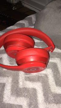 Red beats by dr. dre beats headphone