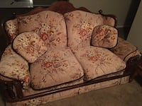 Brown and red floral 3 piece sofa Mobile, 36695