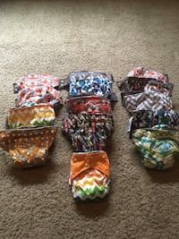 Brand New AIO Cloth Diapers with BAMBOO INNER