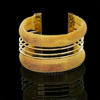 24K Solid Open Adjustable Gold Cuff  Bracelet New London, N6P 1P6