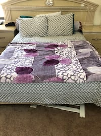 Queen size bed with dresser mirror and two side tables Alexandria, 22304