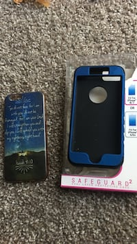 two blue iPhone cases