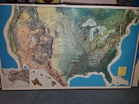 Vintage Usa 3d topographical  map Woonsocket, 02895
