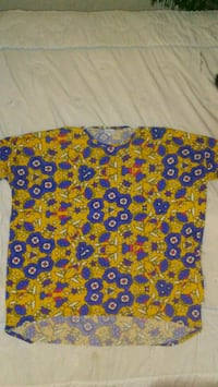 blue, red, and yellow floral shirt Zebulon, 27597