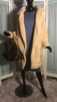 Faux shearling wrap around coat Toronto, M5V 1K1